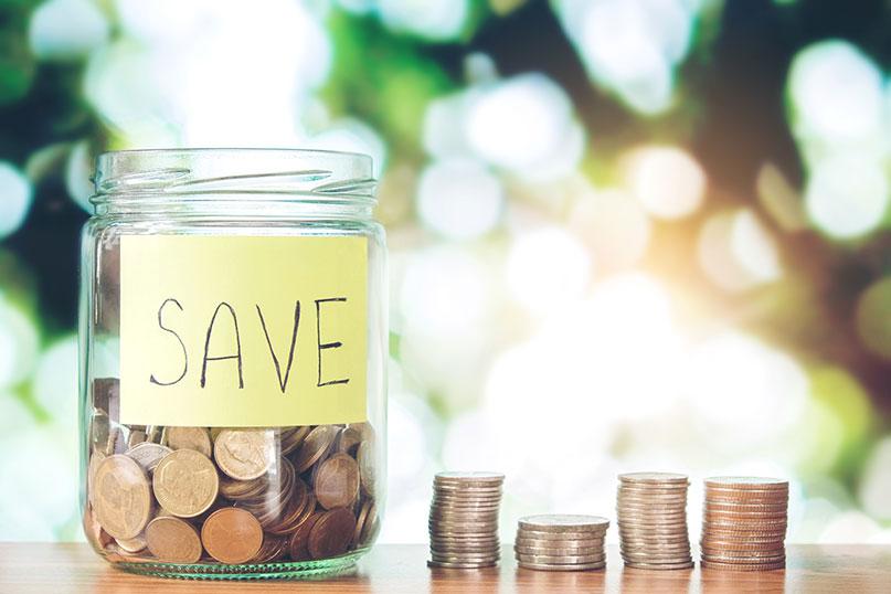 a jar of savings