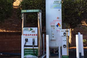 a propane autogas dispensing station at local gas station
