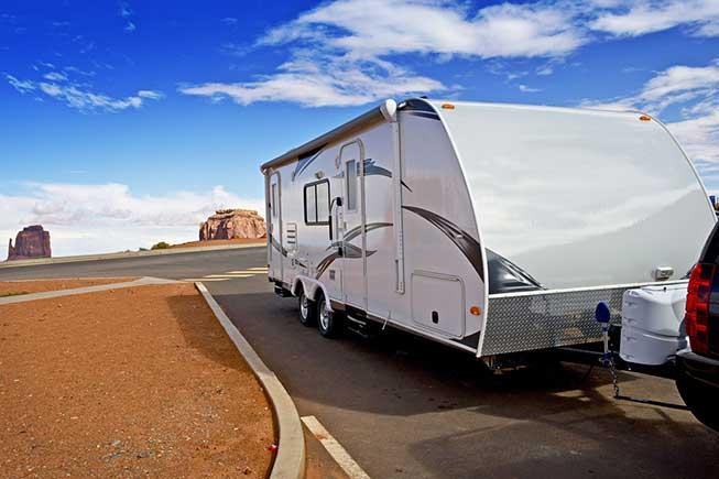 propane rv on camping trip