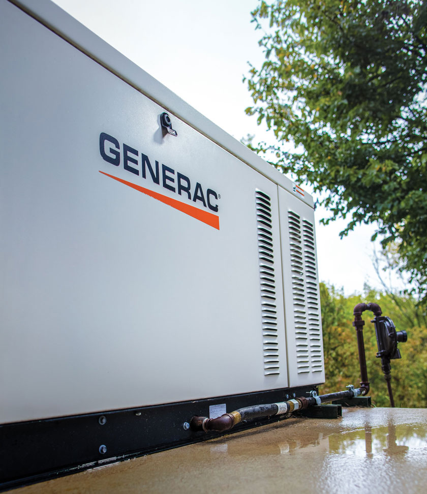 propane powered backup generator for home